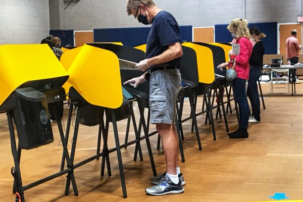 Despite the COVID-19 pandemic, first-time voters hit the polls.